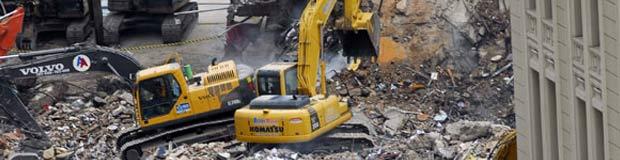 Desabamento de três prédios na 13 de maio